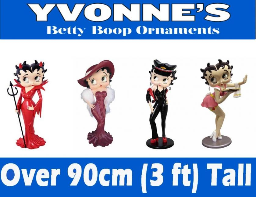 Betty Boop Large Figures Ornament New & Boxed 3ft Tall Waitress Madam