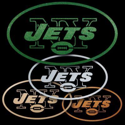 New York Jets Green Metallic Auto Window Sticker Decals