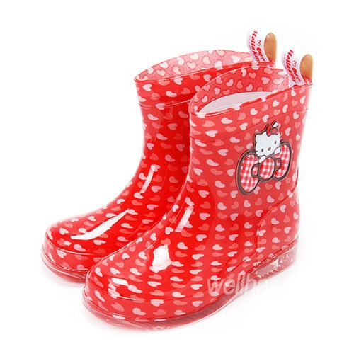 Hello Kitty Rain Boots Kids Girls Shoes Waterproof New