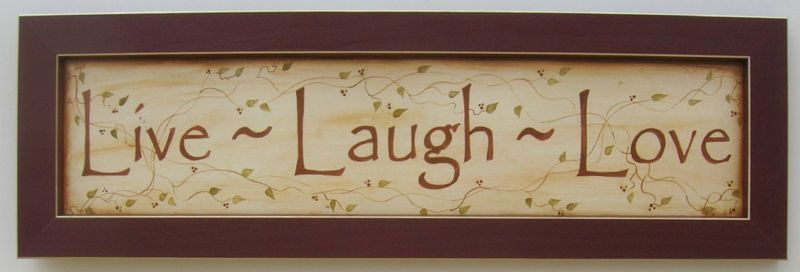 Live Laugh Love Sign Art Framed Country Pictures