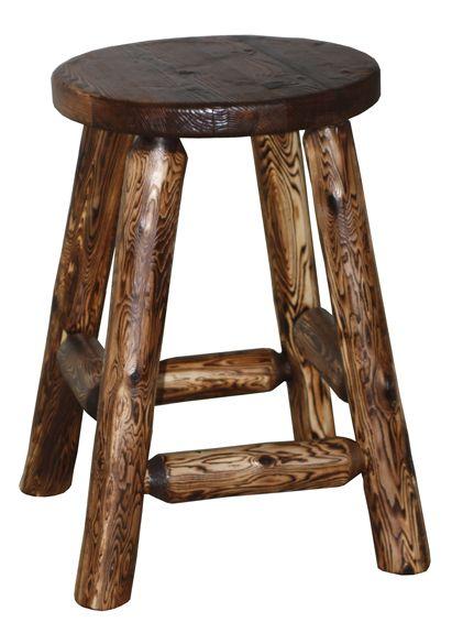 Unique Rustic Wood Bar Stools Kitchen Barstools Counter Seat Amish