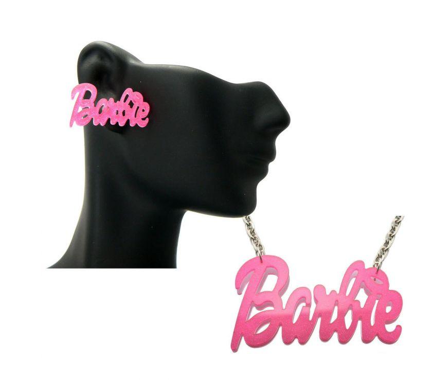NEW Nicki Minaj Inspired Glitter Pearly Acrylic Barbie Earring