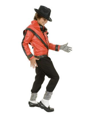CHILD Michael Jackson THRILLER DELUXE JACKET Costume