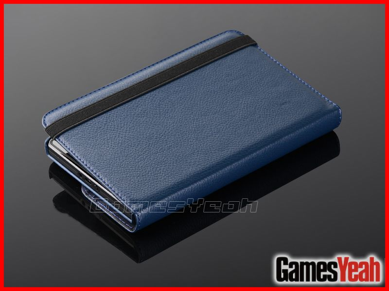 Blue For Kindle Fire PU leather Case Cover/Car Charger/USB Cable