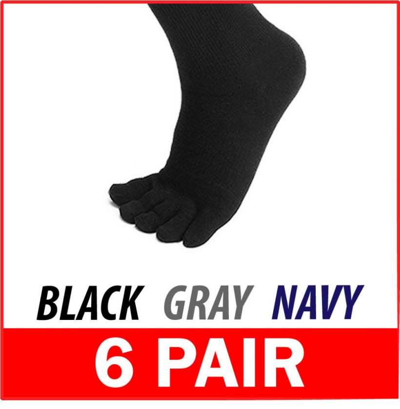 PAIRS COTTON MENS TOE SOCKS   High Quality